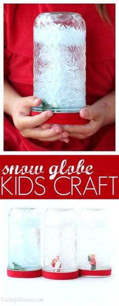 DIY Holiday Snow Globe Craft Made with BARGAIN $1 WOW items at Family Dollar - Raising Whasians #FDSmartCoupons #ad