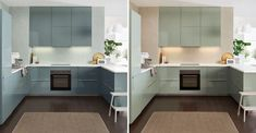 Home Renovation Inspiration: Kallarp Ikea Kitchen in Mint and Turquoise