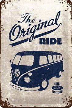 Vintage metallic engraving poster Volkswagen - Vintage and Retro Cars Camping Vintage, Vw Vintage, Vintage Signs, Vintage Posters, Vintage Metal, Vintage Travel, Volkswagen Bus, Vw T1, Retro Bus