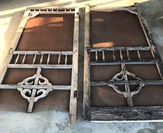 Clover House: Old Screen Doors Get New Life Wood Screen Door, Screen Doors, Under Cabinet Lighting Wireless, Ginger Bread House Diy, Dining Chair Makeover, Distressing Painted Wood, Garden Shelves, Mosaic Flower Pots, Diy Trellis