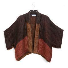 Hand dyed Kimono | Silk and Wool Chocolate, Marsala and Rust Kimono Jacket | One of a Kind | Original by Dikla Levsky  | Ready to ship