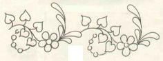 Beyaz Zambak: Sevgi Sarmaşığı Deseni