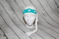 Crochet Snow Queen Beanie Hat/Princess Hats/Wig Hair Hats/Chemo Hats/Tiara/White Princess Beanie Hat/Little Girl Handmade Gifts/Christmas by Mandyscrochetshop on Etsy
