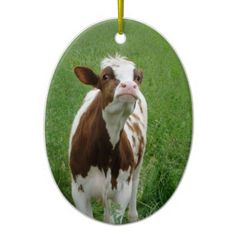 Dairy Milk Cow on the Farm Ceramic Ornament - home gifts ideas decor special unique custom individual customized individualized