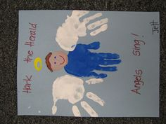 Image detail for -hand print christmas angels preschool craft