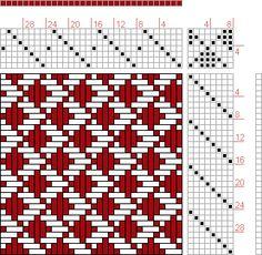 Hand Weaving Draft: 08049, 2500 Armature - Intreccio Per Tessuti Di Lana, Cotone, Rayon, Seta - Eugenio Poma, 7S, 8T - Handweaving.net Hand Weaving and Draft Archive