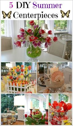 5 Creative Centerpieces For The Spring or Summer Table | http://betweennapsontheporch.net/5-creative-centerpieces-for-the-spring-or-summer-table/