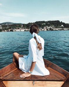 """1,883 aprecieri, 154 comentarii - C a m i l l a (@camilla_agazzone) pe Instagram: """"A boat ride on the lake w/ my @cluse Use the promo code """"CAMILLAAGAZZONE15"""" for 15% off on website…"""""""