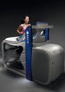 The Alter G treadmill- we are now offering trials and memberships. You can decrease weight bearing to 10%. Benefits_ running with stress fractures, non traumatic compartment syndrome, tendonitis, shin splints- train for your next marathon or a 5K.