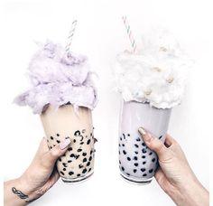 bubble tea cotton candy