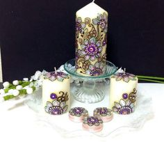 Hey, I found this really awesome Etsy listing at https://www.etsy.com/listing/185282348/beautiful-henna-candle-set-painted-with