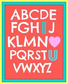 ABC-I Love You FREE Printable