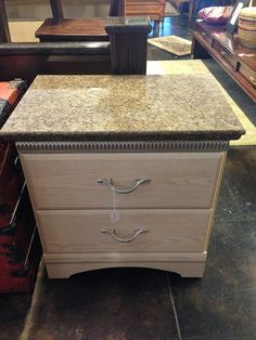 Lovely End Table W/faux Granite Top By Newleafgalleries, Via Flickr