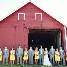 This yellow and grey inspired country chic wedding was the perfect compliment to this gorgeous summer day.