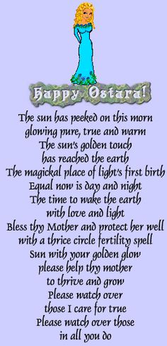Ostara...seasons changing.