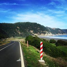 Con este paisaje se trota en la Perla del Maule. Amo mi Conty! ❤️ #Trote #Running #Sábado #Saturday #June #Junio #Constitución #Camino #Road #Playa #Beach #Verde #Green #Mar #Sea #PicOfTheDay #Cielo #Sky #Colores #Colors #Chile #RegionDelMaule #Paisaje #Landscape