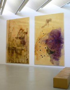 Sigmar Polke: these large paintings took 7 years to make.  he is using chemical processes with metals, raw pigments and arsenic.