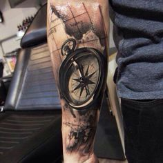 Sealife tattoo - Map/ compass