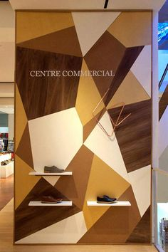 Geometric shoe display// Veja pop-up store, London » Retail Design Blog