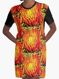 Southwest Cactus Flower t-shirt dress by Judi Saunders.