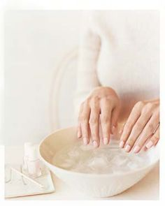 The Quickest Way to Dry Your Nail Polish: If you can't wait for your at-home manicure to dry completely before you're on to other things, try this trick. Let the polish dry for two minutes then submerge in ice water for about three minutes (with breaks to de-frost your fingertips). If you can't take the cold, try heat, and dry your polish with a hair dryer in between coats. (From RealSimple.com)