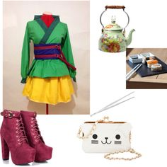 """""""Sushi with freinds"""" by diornoir on Polyvore"""