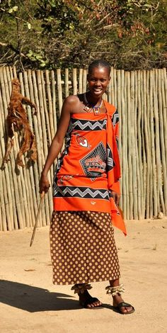 ✿ ❤ swaziland, africa all about africa, out of africa, african beauty, afri Traditional Fashion, Traditional Outfits, Traditional Wedding, African Inspired Fashion, African Fashion, African Attire, African Dress, African Beauty, African Women