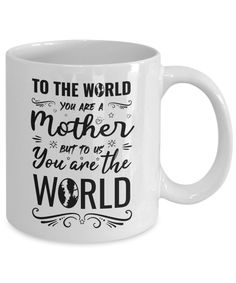 mother you are the world, mothersday gift Mothersday Gift, You Are The World, Coffee Mugs, Tableware, Gifts, Dinnerware, Presents, Coffee Cups, Tablewares