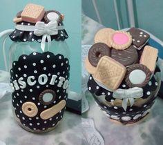 pote de biscoito de biscuit | Art&#39biscuit Simas | Elo7