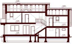 DOM.PL™ - Projekt domu DN KARMELITA GOLD 2M CE - DOM PC1-56 - gotowy koszt budowy My House, House Plans, Floor Plans, House Design, How To Plan, Modern, Furniture, Home Decor, Thailand