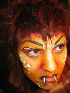 Face Painting by Laura Tevar, for my final project in Stick Art Studio. 2004/05 Barcelona, Spain