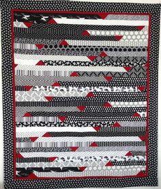 plaid couverture couvre lit jet de canap en patchwork tons noir blanc rouge plaid. Black Bedroom Furniture Sets. Home Design Ideas