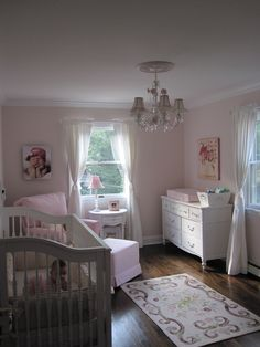 Ava's Pink and White Shabby Chic Nursery