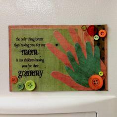 Handprint and Footprint Arts & Crafts: 12 Handprint Ideas to make Grandma for Grandparent's Day