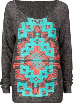FULL TILT Navajo Screen Womens Sweatshirt,I really want this for snowboarding