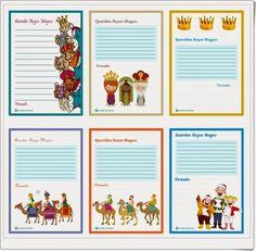 """Diversos y bonitos modelos de """"cartas a los Reyes Magos"""" que el portal mundoprimaria.com ofrece a los niños para que escriban su carta."""