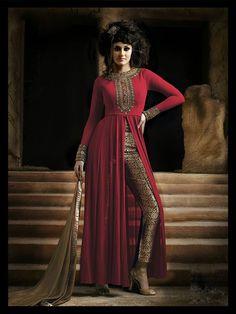 Red Georgette Designer Anarkali Suit 61406