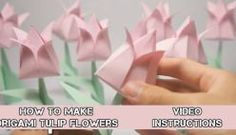 How to Make Easy Origami Flowers - Video Instructions