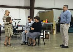 Dress rehearsal in the warehouse ... A Catered Affair ... #mta2015 ... Marianne, Kris, Madeline and John!