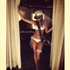 Nautical Bachelorette Party Cruise Bridal Bikini Veil Booty Veil Bride To Be Sash Wedding Captains Hat Cap Last Sail Before The Veil by BridalKitty1 on Etsy https://www.etsy.com/listing/237908216/nautical-bachelorette-party-cruise