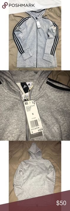 Adidas 3 stripes hoodie This is a woman's adidas hoodie . It's a size small adidas Tops Sweatshirts & Hoodies