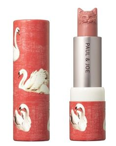 okay..it's freakish that the lipstick has swans on the outside...and then the tip is a cat's head- but it's still pretty darn cool to look at