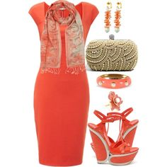 """*Pearls and Coral*"" by nyamanyama on Polyvore"