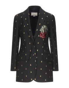 Twill Sequins Embroidered detailing Solid color Lapel collar Long sleeves Single-breasted  Multipockets Button closing Single chest pocket Fully lined Back split Gucci, Suit Jackets For Women, Jackett, Sequins, Blazer, Long Sleeve, Sleeves, Products, Fashion