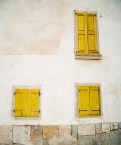 Yellow Shutters ~ Slovenia