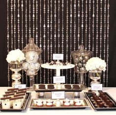 """This photo is called """"glamourous dessert table"""". I can't think of a better description!   Christina Nease from """"Celebrations At Home""""."""
