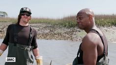 Norman Reedus and Dave Chappelle Talk History and Go Oystering on the Coast of South Carolina