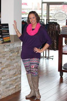 Purple+Aztec+Leggings,+$25.00