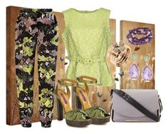 """""""Not your Daddy's Camouflage"""" by gabriele-bernhard ❤ liked on Polyvore featuring French Connection, Darling, MSGM, Ralph Lauren, DaVonna, Folli Follie and camouflage"""