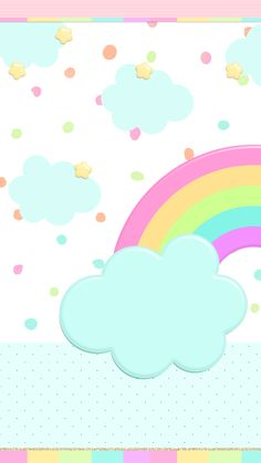 Rainbow and clouds pastel wallpaper Cloud Wallpaper, Rainbow Wallpaper, Kawaii Wallpaper, Colorful Wallpaper, Mobile Wallpaper, Wallpaper Backgrounds, Cellphone Wallpaper, Iphone Wallpaper, Binder Covers